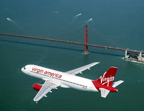 virginamericainflight4 lg - Virgin America announces new flights from San Francisco and Los Angeles to Portland