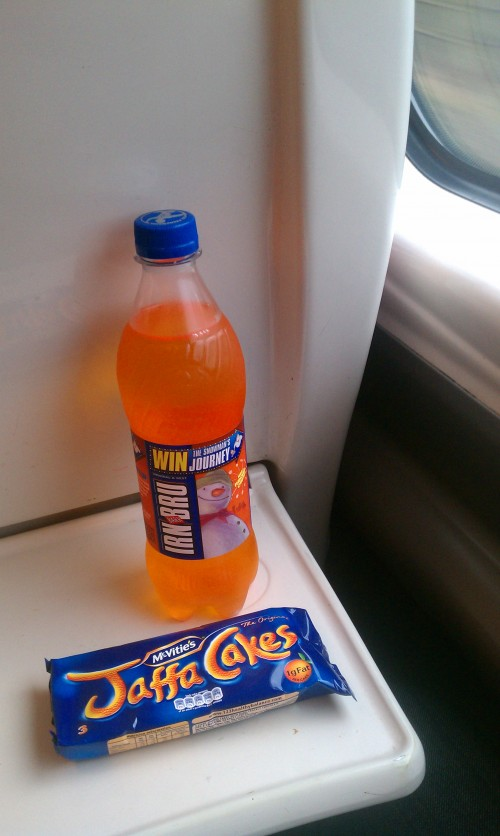 irn bru jaffa cakes 500x836 - Europe: London, Day 1
