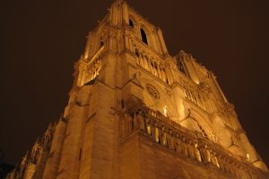 notre dame cathedral night 2 300x200 - Taking the Eurostar from London to Paris
