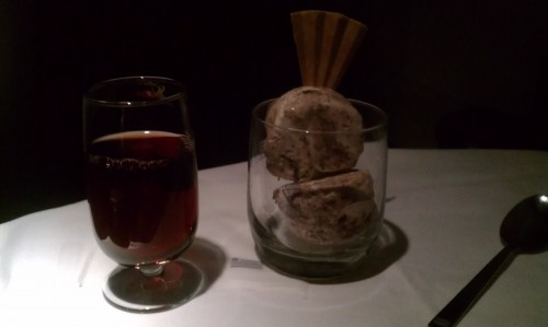 Port and Ice Cream for dessert