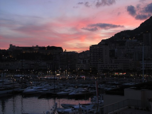 sunset monaco monte carlo 500x375 - A day trip to Monaco from Nice, France