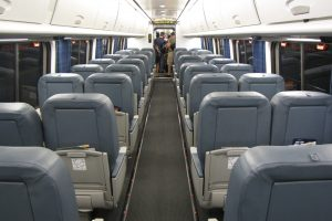 empty amtrak acela1 300x200 - New Amtrak service: No train, but free pizza & Doritos