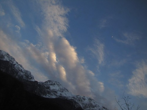 sunset alps 500x375 - FARTing around the Alps - Riding the train between Locarno, Switzerland & Domodossola, Italy