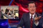 colbert report air rage 150x100 - Stephen Colbert weighs in on the seat reclining debate: Video