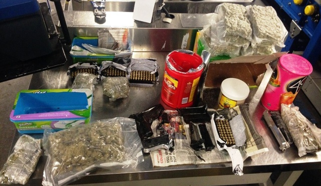 "guns weed ammo - TSA finds lots of ammo & weed ""creatively"" packed in Canadian woman's luggage"