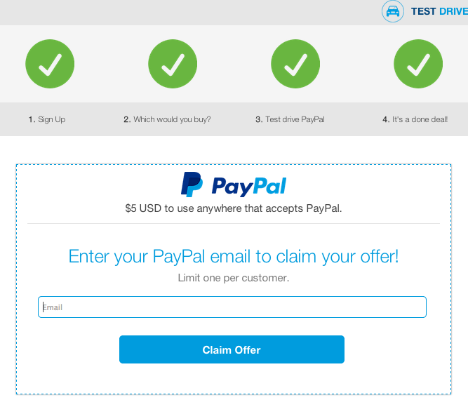 paypal final email - Get $5 free from PayPal