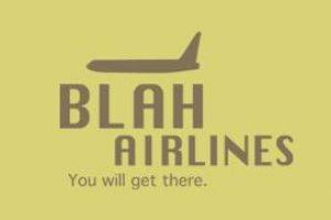blah airlines logo