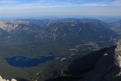 lake eibsee from zugspitze garmisch 500x333 - Zugspitze + Lake Eibsee + Garmisch-Partenkirchen: Day 3