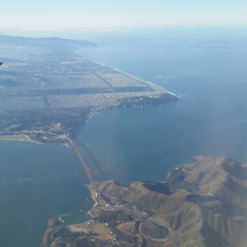 san francisco golden gate bridge air e1414359597307 500x499 - Traveling to-and-from Munich, Germany via Philadelphia on USAirways