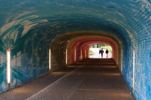 isar river tunnels art 500x333 - Munich, Germany - Exploring + Oktoberfest