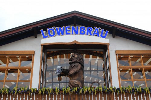 lowenbrau tent 500x333 - Attending Opening Day of Oktoberfest in Munich, Germany