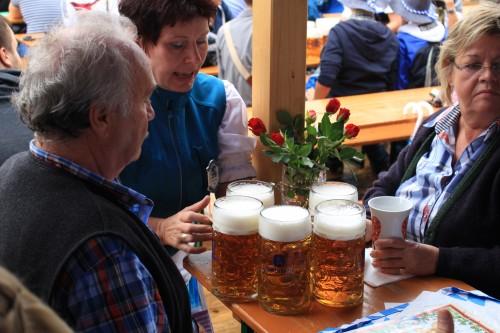 oktoberfest server beer 500x333 - Oktoberfest 2014 Opening Day, Munich, Germany: Day 5