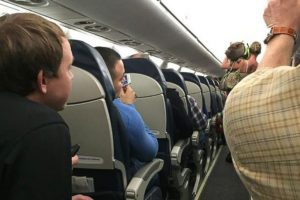 pig plane usairways 300x200 - Woman booted off flight after bringing disruptive pig aboard
