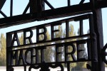 arbeit macht frei 150x100 - Dachau, Germany - Visiting the former concentration camp: Day 9