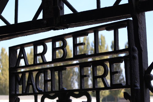 arbeit macht frei 500x333 - Dachau, Germany - Visiting the former concentration camp: Day 9