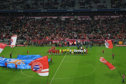 bayern munchen match 500x333 - Attending a Bayern Munich match at Allianz Arena