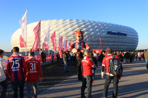 bayern munich allianz arena 500x333 - Attending a Bayern Munich match at Allianz Arena
