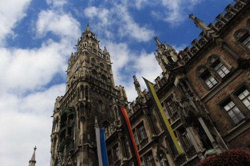 marienplatz munich 500x333 - Exploring the Old City Center of Munich, Germany