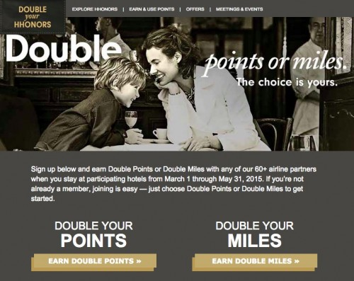 hilton 2015 double your hhonors promo 500x397 - Hilton announces Spring 2015 Double Your HHonors promo, list of non-participating hotels