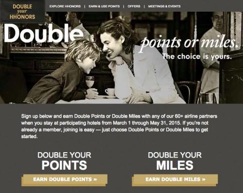 hilton 2015 double your hhonors promo 500x397 - Hilton announces Spring 2015 Double Your HHonors promo, list of non-participating hotels