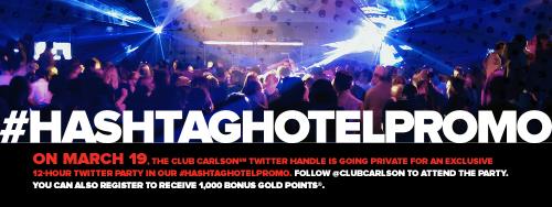 club carlson hotel hashtag 500x188 - Get 1,000 free Club Carlson hotel points #HashtagHotelPromo