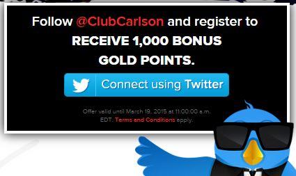 club carlson twitter - Get 1,000 free Club Carlson hotel points #HashtagHotelPromo