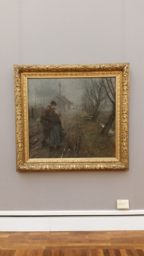 fritz von uhde the hard path 500x888 - The art museums of Munich, Germany: Day 10