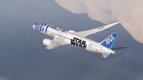 ana 787 star wars 500x281 - ANA introduces R2-D2 Star Wars-themed plane