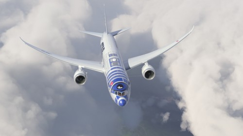 ana r2d2 jet star wars 500x281 - ANA introduces R2-D2 Star Wars-themed plane