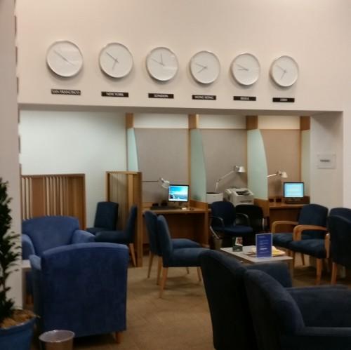 ba business center lounge sfo 500x499 - British Airways First Class & Business Class Terraces Lounge San Francisco SFO Review