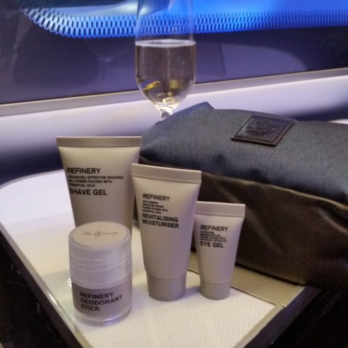 ba first class amenity kit 500x500 - British Airways First Class 747-400 San Francisco SFO to London Heathrow LHR Review