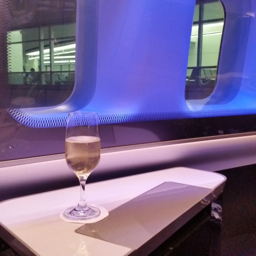ba first class suite champagne 500x500 - British Airways First Class 747-400 San Francisco SFO to London Heathrow LHR Review