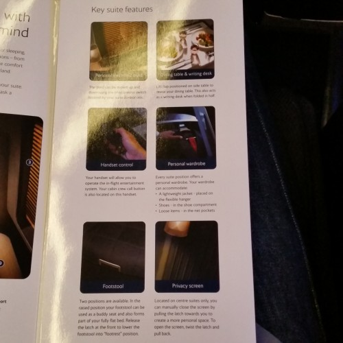 ba first class suite instructions 500x500 - British Airways First Class 747-400 San Francisco SFO to London Heathrow LHR Review