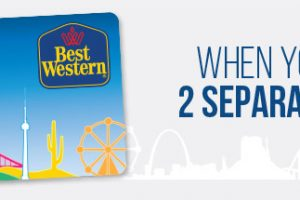 best western gift card 300x200 - Best Western spring promo: Stay twice, get a $50 gift card