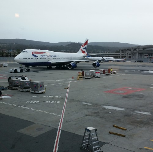 british airways 747 sfo 500x499 - British Airways First Class & Business Class Terraces Lounge San Francisco SFO Review