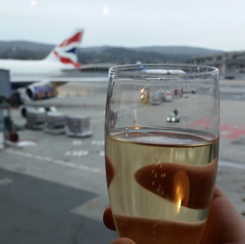 british airways champagne lounge sfo plane 500x499 - British Airways First Class & Business Class Terraces Lounge San Francisco SFO Review