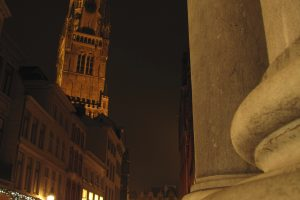 bruges tower city hall night 300x200 - Traveling from Zurich to Luxembourg to Bruges