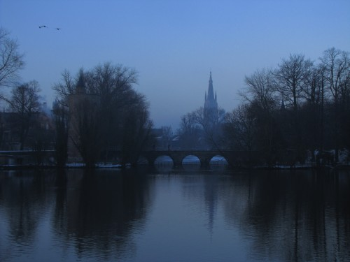 bruges twilight winter 500x375 - A day in Bruges, Belgium