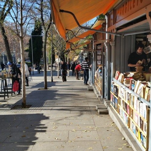 calle claudio moyano madrid books 500x500 - What to do on a layover in Madrid, Spain