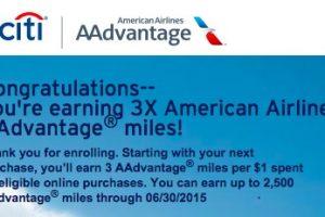 citi aadvantage online bonus 300x200 - Targeted: 3x miles on the Citi AAdvantage Platinum Select Visa