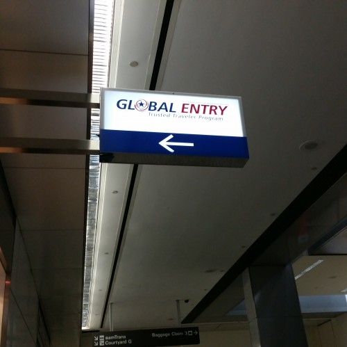 global entry sign 500x499 - Global Entry application, interview, & review: Around The World