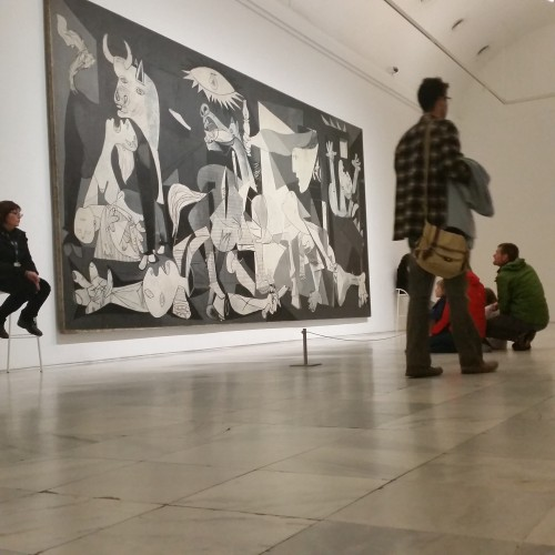 guernica reina sofia 500x500 - What to do on a layover in Madrid, Spain