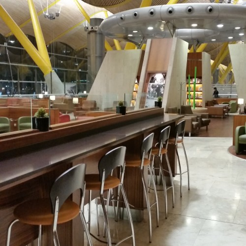iberia lounge madrid 500x500 - Iberia Dali VIP Lounge Madrid Barajas MAD Review: Around The World