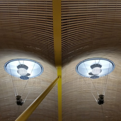 madrid barajas airport roof 500x500 - Iberia Dali VIP Lounge Madrid Barajas MAD Review: Around The World