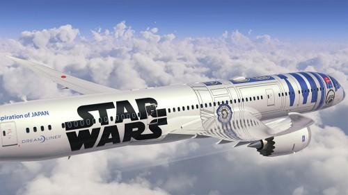 r2 d2 plane ana 787 500x281 - ANA introduces R2-D2 Star Wars-themed plane