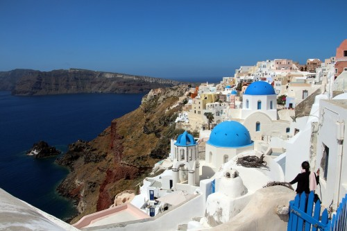 santorini greece 500x333 - Travel Contests: August 22, 2018 - Greece, Spain, London, & more