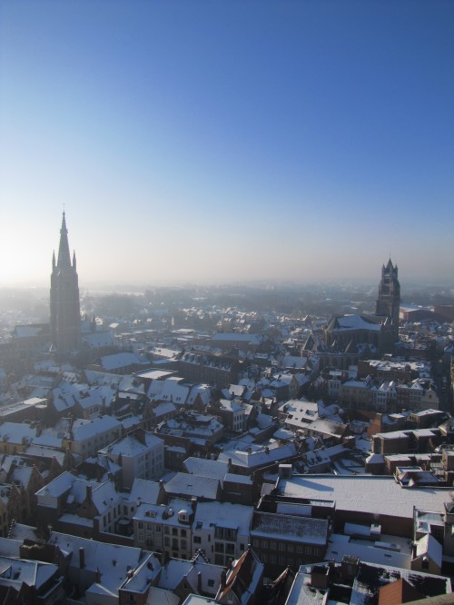 snowy bruges in winter 500x666 - A day in Bruges, Belgium