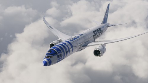 star wars ana plane 500x281 - ANA introduces R2-D2 Star Wars-themed plane