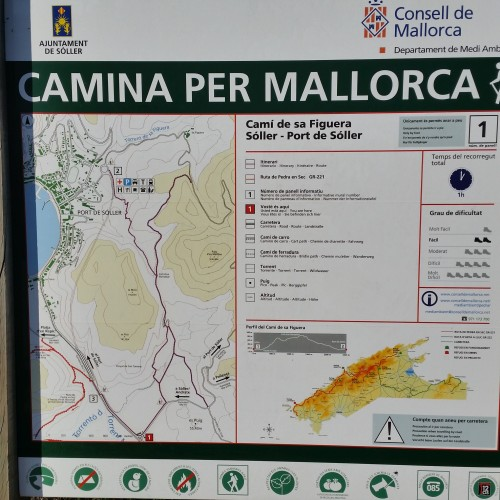 camina per mallorca sign soller 500x500 - A day trip from Palma to Soller, Mallorca, Spain