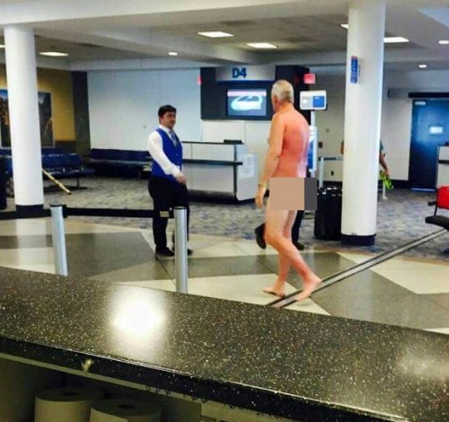Nude men at airports